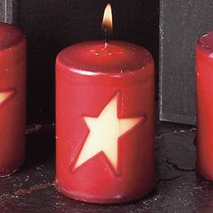 Cranberry Scented Star Votive Candle