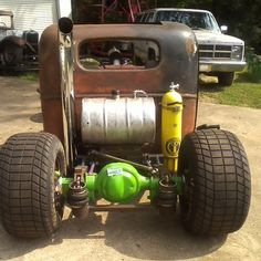 My rat rod scuba tank for airbag suspension and beer keg as gas tank also chrome exhaust stack. Not sure whos it is but awesome job