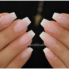 Natural acrylic nails ❤ liked on Polyvore featuring beauty products, nail care and nail treatments