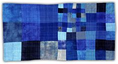 """'Blue 1' by Eleanor McCain (2004, 22"""" x 43"""" Private Collection)"""