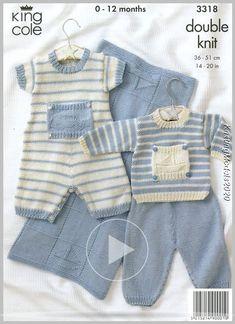 Knitting Patterns Boy Baby Knitting Patterns - lupin and rose Baby Boy Knitting Patterns Free, Knitting For Kids, Baby Patterns, Baby Dungarees, Baby Layette, Knitted Baby Clothes, Baby Pants, Baby Sweaters, Kids Outfits