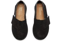 NEW Toms Black Glimmers available in tiny and youth sizes at Red E Surf