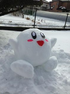Kirby: | 25 Snow Sculptures From Tokyo's Biggest Blizzard In Decades