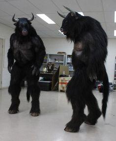 BeastWorks — hoofedfursuits: Some hoofed movie monster suits…. BeastWorks — hoofedfursuits: Some hoofed movie monster suits…. Mythological Creatures, Mythical Creatures, Narnia, Larp, Minotaur Costume, Animal Costumes, Fantasy Costumes, Amazing Cosplay, Fursuit