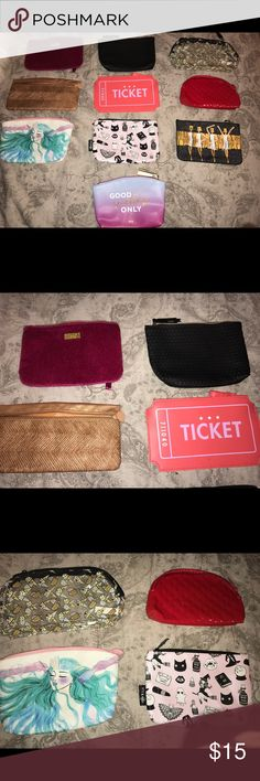 Lot of ipsy bags!! super cute ipsy bags--- 10 in all--- no damage! Bags Cosmetic Bags & Cases