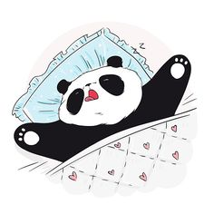 Panda Wallpaper Iphone, Cute Panda Wallpaper, Panda Wallpapers, Bear Wallpaper, Cute Panda Drawing, Cute Bear Drawings, Sleeping Panda, Sleeping Animals, Image Panda