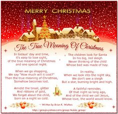 The true meaning of Christmas - when we celebrate the night that a person was born who changed the world with a simple message - be kind to others.Have a merry Christmas my precious friends.Love you all.☃️ God bless you Pamela. Ly