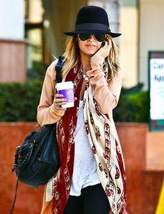 Nicole Richie Fashion : Alexander McQueen Homburg fedora hat | NICOLE RICHIE NEWS
