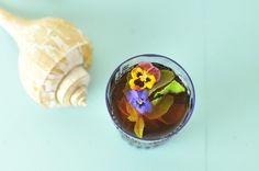 Iced tea with mint. Kiku Corner