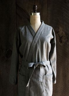 DIY Women's Flannel Robe - FREE Sewing Pattern and Tutorial (if you sign up for newsletter)