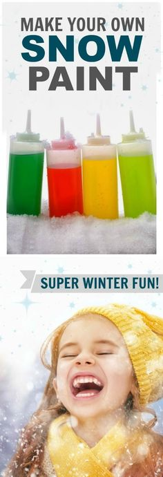 2-INGREDIENT SNOW PAINT FOR KIDS.  My kids love this stuff, and it is so easy to make!