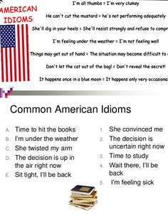 30+ Common American Idioms You Need to Know - ESL Buzz