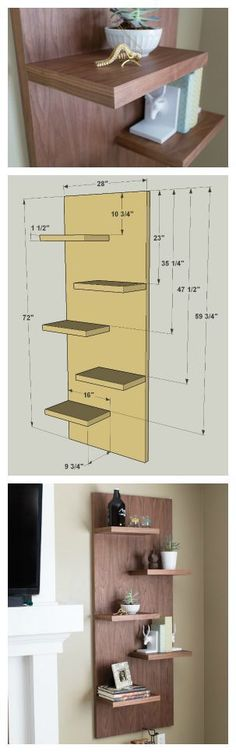DIY Floating Display Shelves :: Find the FREE PLANS for this project and many others at buildsomething.com