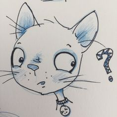 Curiosity... #sketchbook #fb #twitter #illustration #childrensillustration #cat #catsofinstagram #PlayfulStories