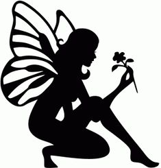 Silhouette Online Store - View Design #66376: flower fairy