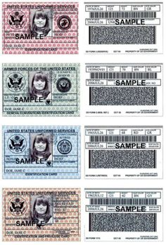 Blank Military Id Card Template Report Templates Sample
