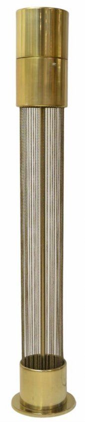 VINTAGE PIERRE CARDIN BEADED GILT METAL FLOOR LAMP : Lot 280