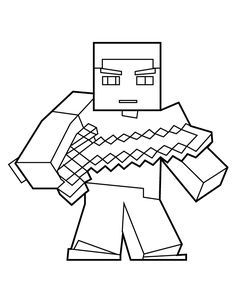 Herobrine with sword coloring page minecraft coloring pages Minecraft Herobrine Pictures to Print to Color Crazy Craft Coloring Pages Minecraft Mobs Coloring Pages