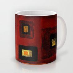 in red Mug by Viviana González - $16.00
