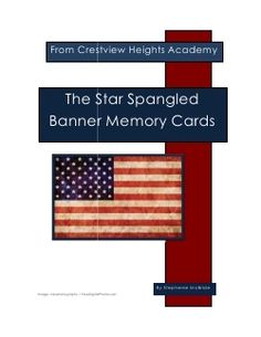 Star Spangled Banner Matching Cards - Crestview Heights Academy | History and Geography | Language | Montessori Inspired | CurrClick