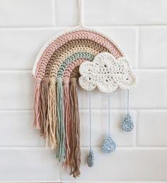 Boho Crochet, Crochet Home, Crochet Crafts, Yarn Crafts, Crochet Baby, Crochet Projects, Knit Crochet, Crochet Wall Art, Crochet Wall Hangings