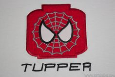 Custom Spiderman Block Head Shirt with or without by Satchelles, $20.00