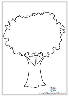 fichas para imprimir y colorear, infantil y primaria, naturaleza, árbol