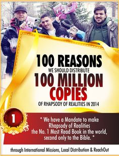 Talk bold, Reign as a king, relishing every day of the beautiful life God has given you with this word-based teachings, prayers and confessions, proven one-year, and two-year Bible reading plans, are all guaranteed to edify and enrich your walk with the Lord in this month's edition of Rhapsody of Realities!...Click Here ->http://bit.ly/R-M-N to Subscribe for September Rhapsody of Realities