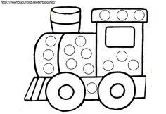 Coloriage à gommettes le train dessiné par nounoudunord. Imprimer le coloriage grand format en fichier PDF cliquez :.ici. Ou enregistrez l'image sur votre pc cliquez droit puis sur enregistreret ...