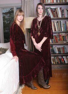 Vintage velvet 1930's dresses