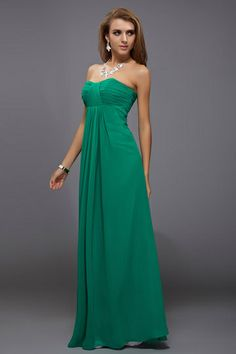 Schliches Empire wrinkles floor-length Bridesmaid Dress