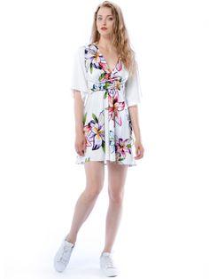 Magdalena Mini Hypnotic Flower - sukienka mini z kwiatowym printem