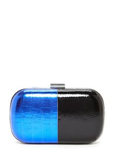 BCBGeneration Cobalt Combo Two-Tone Clutch