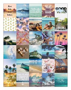 Free Printable Beach Sticker Sheet from She's Bernadette