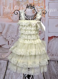 flower girl dressbaptims dressChristmas by ThinkPinkBows on Etsy, $24.95