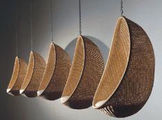 Hanging egg chair, designed by Nanna and Jørgen Ditzel in 1959