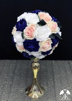ROYAL BLUE, WHITE Coral Wedding Centerpieces, Royal Blue Centerpieces, Burgundy Wedding, Mauve Wedding, Lime Wedding, Peacock Wedding, Orange Wedding, Wedding White, Nautical Wedding