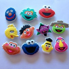 Sesame Street Image Face Shoe Charms Cake Toppers by GroovyDeals