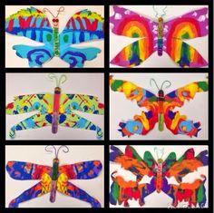 butterfly painting art lesson art ideas for school pinterest