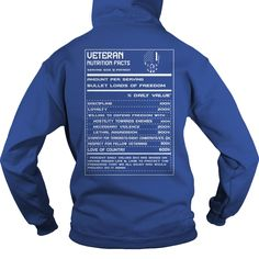 Veteran Nutrition Facts Order HERE ==> https://www.sunfrog.com/LifeStyle/Veteran-Nutrition-Facts-Royal-Blue-Hoodie.html?41088 Please tag & share with your friends who would love it  #birthdaygifts #xmasgifts #jeepsafari
