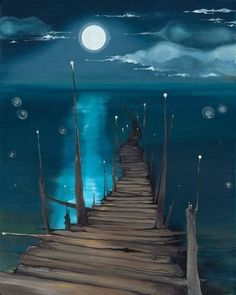 The moon and the sea fantasy art: landscapes maľby, umenie, perspektíva. Beginner Painting, Painting Tips, Home Painting Ideas, Acrylic Painting Inspiration, Painting Classes, Acrylic Painting For Beginners, Acrylic Painting Techniques, Painting Lessons, Love Painting
