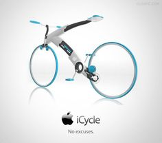 Creative Apple Concept Designs To Make Our Lives Easier Apple-Concept-Designs-iCycle WOW this is super cool. Got to be expensive to the extremes though :/Apple-Concept-Designs-iCycle WOW this is super cool. Got to be expensive to the extremes though :/ Electronics Gadgets, Technology Gadgets, Tech Gadgets, Cool Gadgets, New Technology, Bike Gadgets, Technology Photos, Steve Wozniak, E Mobility