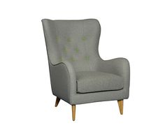 Panno grey armchair with citrus green buttons