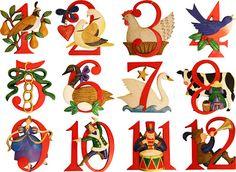 Christmas Decorations - 12 Days of Christmas Ornament Set Days Of Christmas Song, Twelve Days Of Christmas, Christmas Carol, All Things Christmas, Christmas Lights, Christmas Holidays, Celebrating Christmas, Christmas 2019, Christmas Lyrics