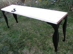 Sofa table built with half of a door @JOYS OF HOME: furniture I a-door