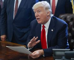 President Trump speaks before signing an executive order in the Oval Office on Feb. 24. (Pablo Martinez Monsivais/AP) In two prime-time interviews Wednesday night,
