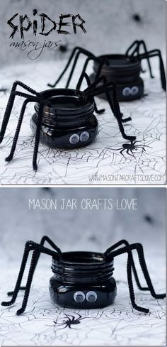 DIY Spider Mason Jar