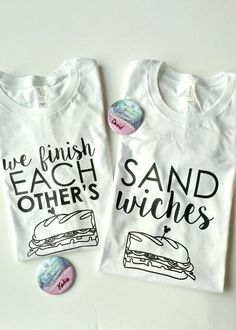 We Finish Each Other's Sandwiches Disney t-shirts Disney Couple Shirts, Matching Couple Shirts, Disney Couples, Funny Disney Shirts, Couple Tees, Disney Mode, Disney 2017, Disney Cruise, Disney Honeymoon