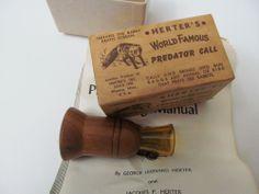 VINTAGE HERTER'S WASECA,MINN.SINCE 1893 WORLD FAMOUS PREDATOR CALL