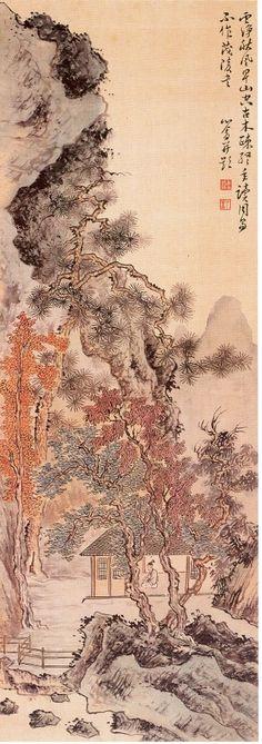 山水四條屏3 by 溥心畬(1896-1963)